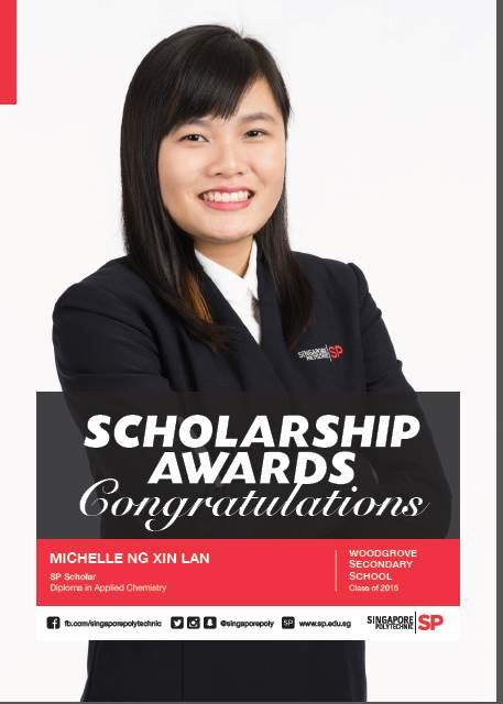 SP_Scholarship in Applied Chemistry - Michelle Ng Xin Lan (Graduated WGS in 2015).jpg